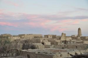 Uitzicht over al-Qasr, Dakhla Oase